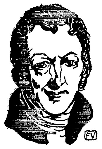 Line drawing of Thomas Malthus